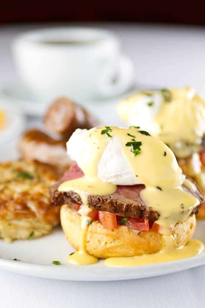 Inner Banks Inn Sunday Brunch, Eggs Benedict with beef